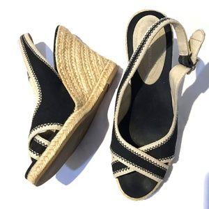 Banana Republic espadrille wedge Sandals Heel